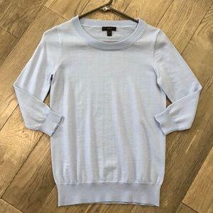 Women's light blue J.Crew merino wool sweater top